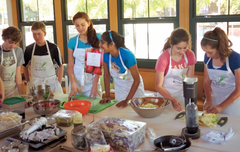 Middle school students at Eco Top Chef Marin (ETCM) finals
