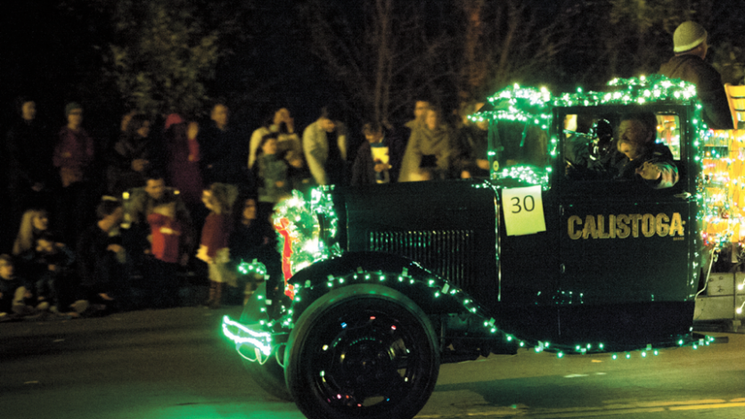 Calistoga's Annual Lighted Tractor Parade