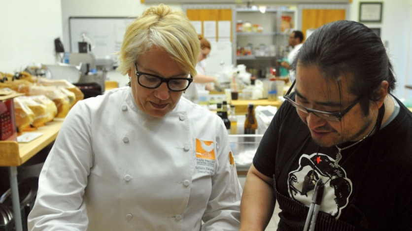 Chef Barbara Alexander and Chef Hiroo Nagahara