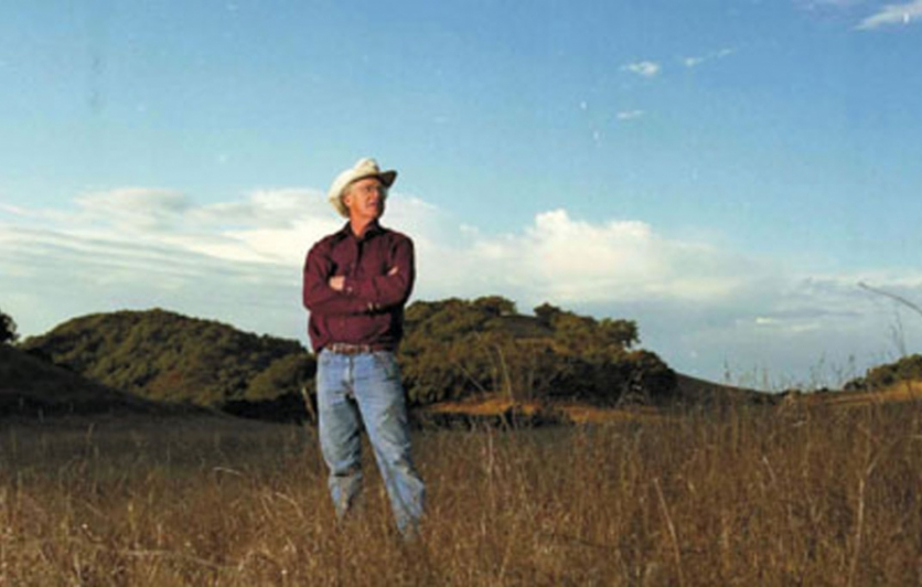 Lee Hudson on his ranch