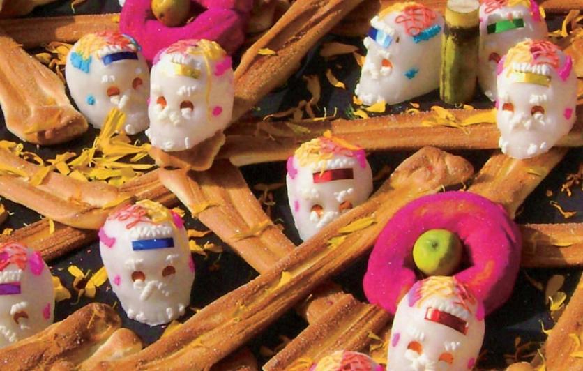 Sugar skulls for Dia de los Muertos
