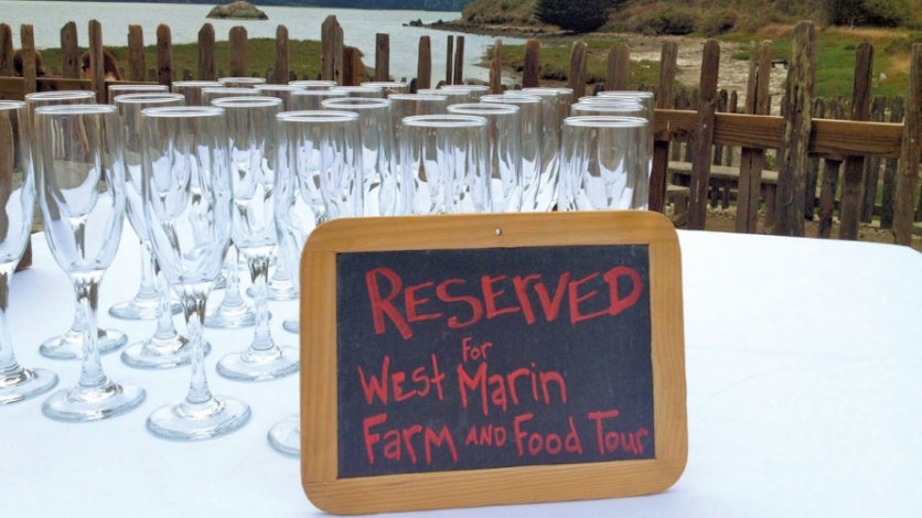 Tables reserved for A Taste of Marin