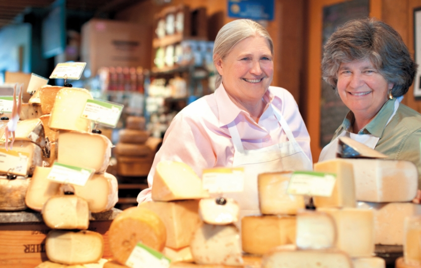 Peggy Smith and Sue Conley of Cowgirl Creamery