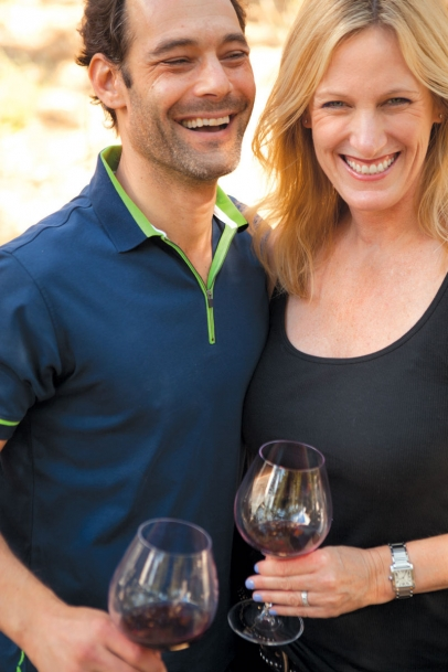 Jon Grant and Ashley King of Couloir Wines and Straight Line Wine