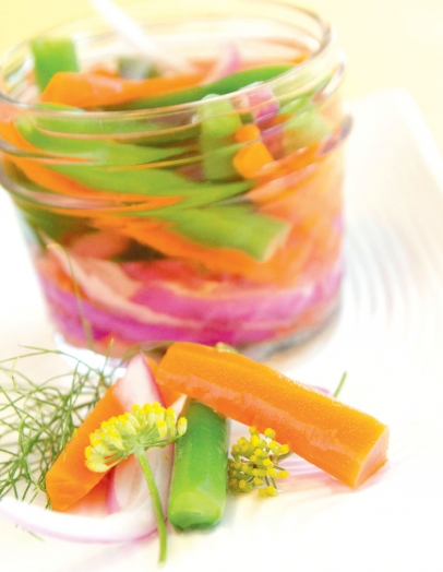 Carrots and green bean pickles