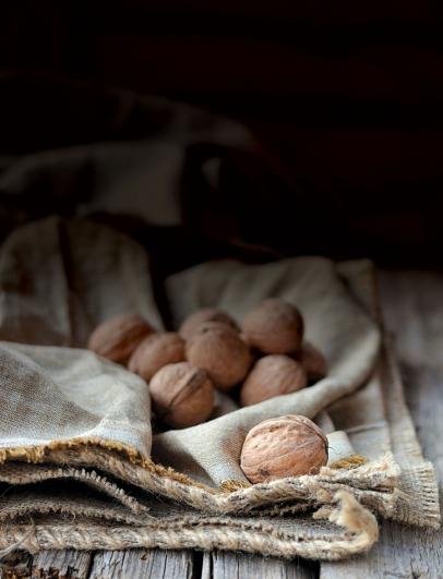 Walnuts in season in winter