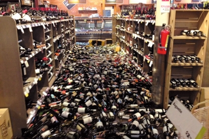 Whole Foods Napa After the 2014 South Napa Earthquake