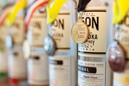 Award-winning organic vodka