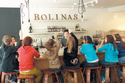 Del Mar students with teacher Norlene Jones and Chef Jeremy Goldfarb at 123 Bolinas