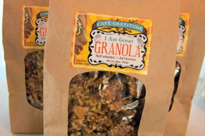 Cafe Gratitude's packaged granola