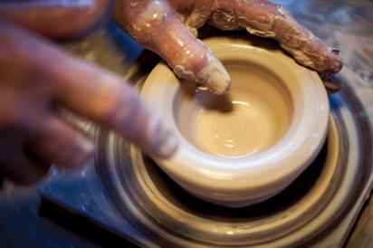 Clay pottery at Calistoga Pottery