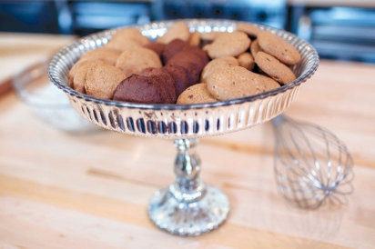 Cookies in a dish