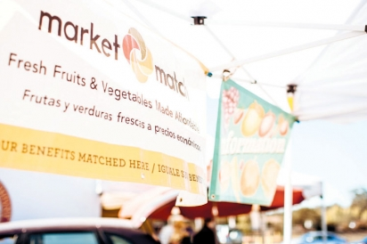Market Match booth at farmers' market