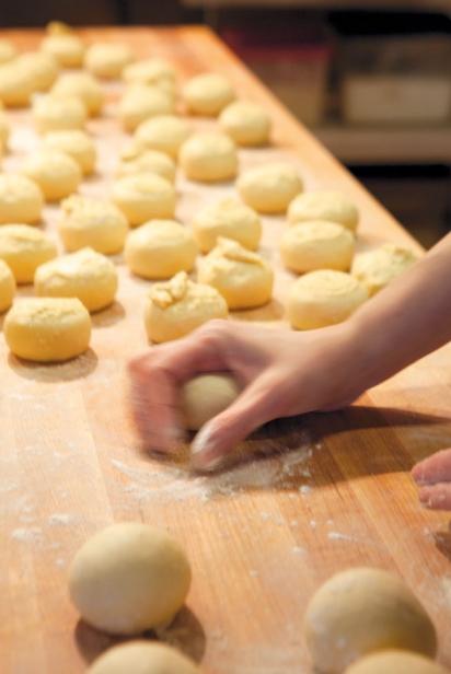 Balls of dough at Parkside Cafe