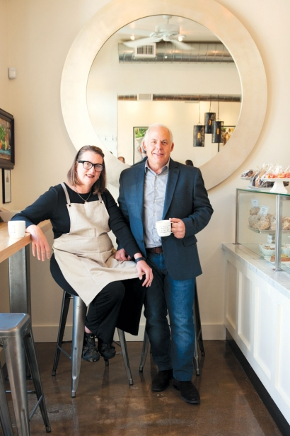 LeValley and Harris, cofounders of Rustic Bakery and Cafe