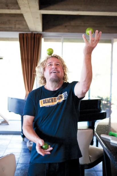 Sammy Hagar juggling limes