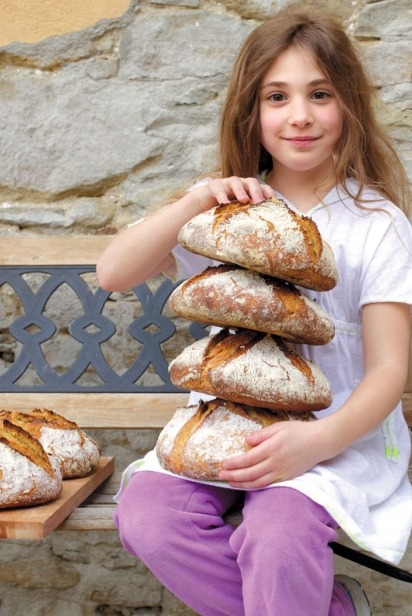 Holding up loaves