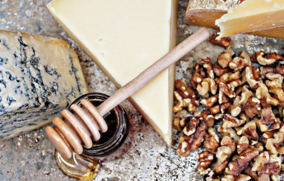 Peppered Maple Walnuts with Point Reyes Farmstead's Toma cheese