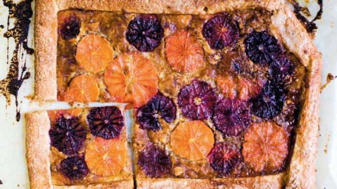 Rustic Blood Orange Tart
