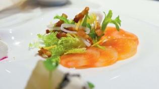 Carpaccio of Chioggia Beet, Petite Frisee Salad