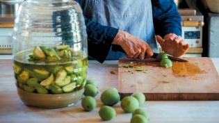 Nocino, a green walnut digestif