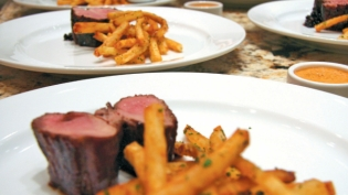 Saba-Glazed Breast of Liberty Duck with Herbed Duck Fat Fries